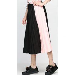Czarno-Różowa Spódnica Anything Goes. Czarne spódniczki Born2be, na lato, m, midi. Za 109,99 zł.