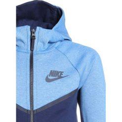 Nike Performance HOODIE Bluza rozpinana aegean storm/htr/black/anthracite. Niebieskie bluzy chłopięce rozpinane marki Nike Performance, z bawełny. Za 349,00 zł.