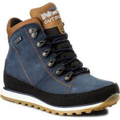 Trekkingi NIK - 08-0185-00-0-02-00 Niebieski. Niebieskie buty zimowe damskie Nik, z materiału. W wyprzedaży za 249,00 zł.