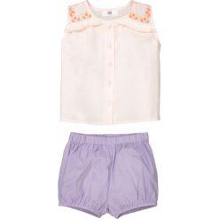 Komplet dziecięcy: koszulka bez rękawów i spodenki, 1 miesiąc - 3 lata. Czerwone bluzki dziewczęce marki La Redoute Collections, z bawełny. Za 100,76 zł.