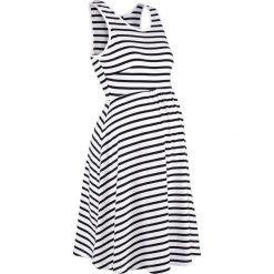 Sukienka ciążowa shirtowa w paski bonprix czarno-biały w paski. Białe sukienki ciążowe bonprix, w paski, z dżerseju. Za 89,99 zł.