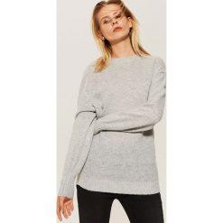 Gładki sweter - Jasny szar. Szare swetry klasyczne męskie marki bonprix, l, melanż. Za 59,99 zł.