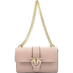 Torebki klasyczne damskie: Skórzana torebka w kolorze pudrowym – (S)27 x (W)16 x (G)7 cm