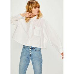 Levi's - Koszula. Brązowe koszule wiązane damskie Levi's®, l, z bawełny, klasyczne, z klasycznym kołnierzykiem, z długim rękawem. Za 259,90 zł.