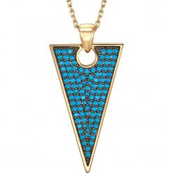 Pozłacany naszyjnik z zawieszką - dł. 44,5 cm. Żółte naszyjniki damskie Stylowa biżuteria, pozłacane. W wyprzedaży za 99,95 zł.