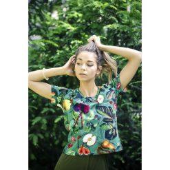 T-shirt damski WARZYWNIAK. Zielone t-shirty damskie marki Pakamera, z dzianiny, z klasycznym kołnierzykiem. Za 99,00 zł.