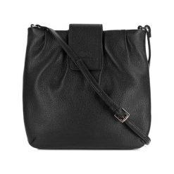 Torebki klasyczne damskie: Skórzana torebka w kolorze czarnym – (S)23 x (W)24 x (G)2 cm
