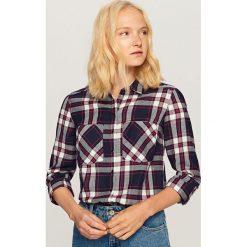 Koszula w kratę - Granatowy. Niebieskie koszule damskie Reserved. W wyprzedaży za 39,99 zł.