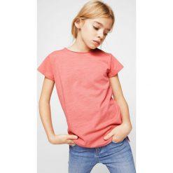 Mango Kids - Top dziecięcy Baseg2 104-164 cm. Różowe bluzki dziewczęce Mango Kids, l, z bawełny, z okrągłym kołnierzem. Za 19,90 zł.