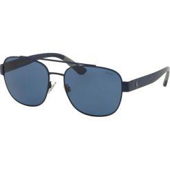 Polo Ralph Lauren - Okulary. Brązowe okulary przeciwsłoneczne męskie aviatory Polo Ralph Lauren, z materiału. Za 499,90 zł.