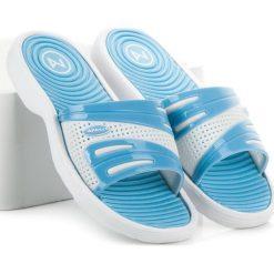 Chodaki damskie: Niebieskie klapki basenowe LACEY