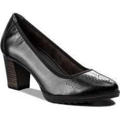 Półbuty TAMARIS - 1-22435-20 Black Leather 003. Czarne creepersy damskie Tamaris, z materiału, na obcasie. W wyprzedaży za 199,00 zł.