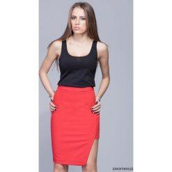 Spódnice wieczorowe: Asymetryczna elegancka spódnica-czerwona H018