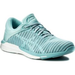 Buty ASICS - FuzeX Rush Adapt T885N Porcelain Blue/White/Smoke Blue 1401. Niebieskie buty do biegania damskie marki Asics, z materiału, asics fuzex. W wyprzedaży za 349,00 zł.