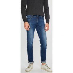 Trussardi Jeans - Jeansy. Niebieskie jeansy męskie slim Trussardi Jeans, z bawełny. Za 499,90 zł.