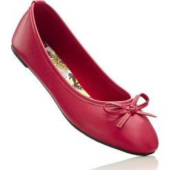 Baleriny bonprix jaskrawy czerwony. Czerwone baleriny damskie bonprix, z syntetyku. Za 49,99 zł.