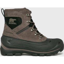 Sorel - Buty Buxton Lace. Szare buty trekkingowe męskie Sorel, z kauczuku, na sznurówki, outdoorowe. Za 529,90 zł.