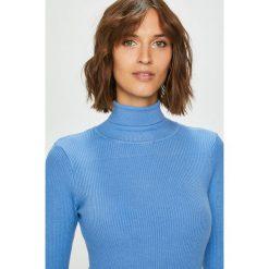 Answear - Sweter. Niebieskie golfy damskie ANSWEAR, l, z dzianiny, z krótkim rękawem. W wyprzedaży za 79,90 zł.