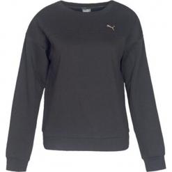 Bluza w kolorze czarnym. Czarne bluzy dziewczęce z nadrukiem marki Puma. W wyprzedaży za 113,95 zł.