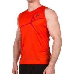 Asics Koszulka męska Protection Road Singlet Top pomarańczowa r. XL (1298610540). Brązowe koszulki sportowe męskie Asics, m. Za 113,38 zł.