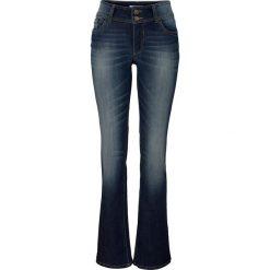 Dżinsy ze stretchem BOOTCUT bonprix ciemnoniebieski. Niebieskie jeansy damskie bootcut marki bonprix. Za 74,99 zł.
