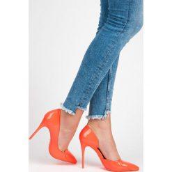 Szpilki: Pomarańczowe szpilki sweetheart BLANCHE