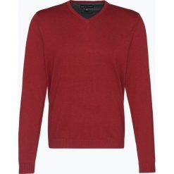 Finshley & Harding - Sweter męski z dodatkiem kaszmiru, czerwony. Czarne swetry klasyczne męskie marki Finshley & Harding, w kratkę. Za 229,95 zł.