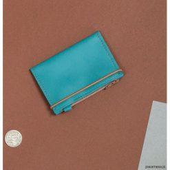 MIKRO +|- / Turquoise - portfel ze skóry. Brązowe portfele damskie Pakamera, ze skóry. Za 110,00 zł.