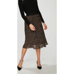 Answear - Spódnica. Szare spódniczki plisowane damskie ANSWEAR, l, z poliesteru, midi. W wyprzedaży za 99,90 zł.