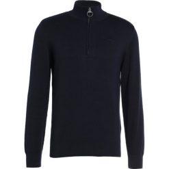 Swetry klasyczne męskie: Barbour HALF ZIP Sweter navy