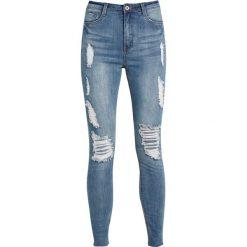 Missguided SINNER MARBLED Jeans Skinny Fit blue. Niebieskie boyfriendy damskie Missguided. Za 169,00 zł.