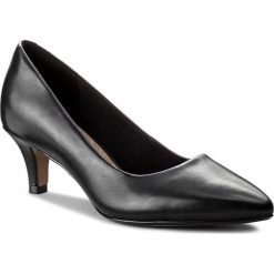Półbuty CLARKS - Linvale Jerica 261372084  Black Leather. Czarne creepersy damskie Clarks, z materiału, eleganckie, na obcasie. Za 329,00 zł.