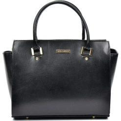 Torebki klasyczne damskie: Skórzana torebka w kolorze czarnym – 41 x 26 x 14 cm