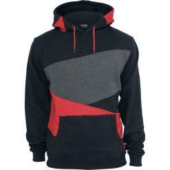 Urban Classics Zig Zag Hoodie Bluza z kapturem czarny/czerwony/ciemnoszary. Niebieskie bluzy męskie rozpinane marki Urban Classics, l, z okrągłym kołnierzem. Za 244,90 zł.