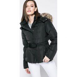 Pepe Jeans - Kurtka puchowa. Czarne kurtki damskie jeansowe Pepe Jeans, l, z kapturem. W wyprzedaży za 569,90 zł.