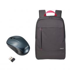 Torby na laptopa: Asus zestaw Nereus Backpack 16″+ mysz WT200