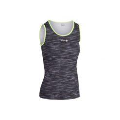 Koszulka Soft 500 szary melanż. Czarne bluzki sportowe damskie ARTENGO, z materiału. Za 29,99 zł.