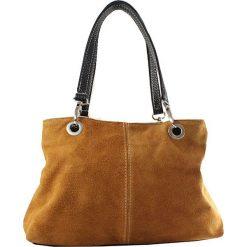 Torebki i plecaki damskie: Skórzana torebka w kolorze brązowym – 32 x 20 x 14 cm