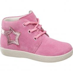 Buciki dziecięce Elefanten różowe. Czerwone buciki niemowlęce chłopięce Elefanten, z materiału, na sznurówki. Za 159,90 zł.