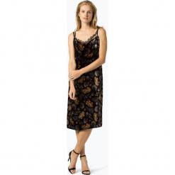 Marc Cain Additions - Sukienka damska z domieszką jedwabiu, niebieski. Niebieskie sukienki koronkowe marki Marc Cain Additions, w koronkowe wzory. Za 899,95 zł.