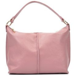 Torebki i plecaki damskie: Skórzana torebka w kolorze jasnoróżowym – (S)44 x (W)26 x (G)13 cm