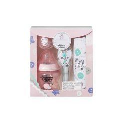 TOMMEE TIPPEE Baby Gift Różowy zestaw prezentowy Butelka + akcesoria. Czerwone śliniaki marki Tommee Tippee, z bawełny. W wyprzedaży za 37,99 zł.