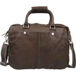"""Torby na laptopa: Skórzana torebka """"Washington"""" w kolorze brązowym – 39 x 29 x 10 cm"""