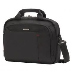 "Samsonite GuardIT Bailhandle 13,3"". Czarne torby na laptopa Samsonite, w paski, z materiału. Za 179,00 zł."