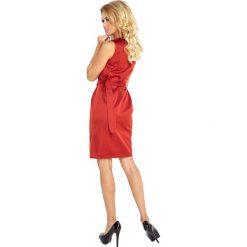 Dorotea Sukienka z wiązaniem - miedziana. Czerwone sukienki na komunię numoco, s, z materiału. Za 147,60 zł.