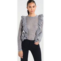Swetry klasyczne damskie: YAS YASLUCIA Sweter medium grey melange