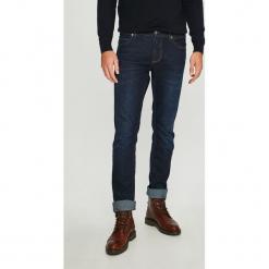Napapijri - Jeansy Lund. Niebieskie jeansy męskie slim marki Napapijri. W wyprzedaży za 339,90 zł.