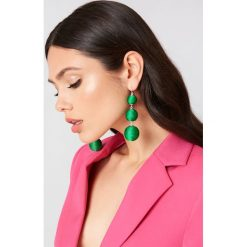 Kolczyki damskie: NA-KD Accessories Wiszące kolczyki Triple Globe – Green
