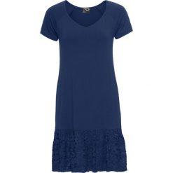 Sukienki: Sukienka shirtowa z koronkową wstawką bonprix kobaltowy