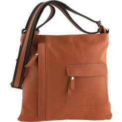 Torebki klasyczne damskie: Skórzana torebka w kolorze jasnobrązowym – 28 x 28 x 3 cm